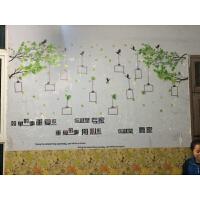公司家庭企业办公室文化照片墙贴纸墙壁贴饰大树相框贴纸员工风采 k款 2套忆之林+简单的事 特大