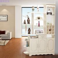 玄关柜隔断柜 欧式客厅酒柜现代简约双面鞋柜屏风间厅装饰柜子 组装