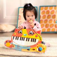 美国B.toys大嘴猫琴婴幼儿童卡通早教益智电子钢琴音乐玩具2-6岁