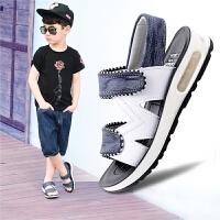 夏季男童凉鞋儿童沙滩鞋学生小女孩宝宝鞋子