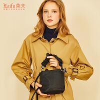 莱夫2018新款包包女士手提包时尚韩版牛津布百搭大容量单肩水桶包