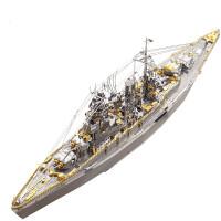 3D金属拼图泰坦尼克号黑珍珠号海盗船模型日本海上自卫队军舰模型
