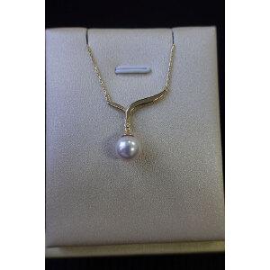 S925银镶珍珠颈链