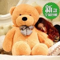 大号毛绒玩具熊泰迪熊抱抱熊布娃娃思念熊猫公仔女生日礼物送女友 2.3米 送玫瑰花