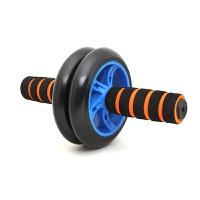 运动配饰健腹轮腹肌轮收腹健身器材家用滚轮俯卧撑轮健腹轮 橙色手柄 蓝色圈