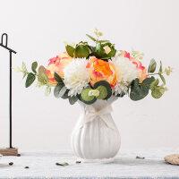 仿真花大朵牡丹花假花客厅摆件摆设装饰花艺花瓶餐桌面绣球花