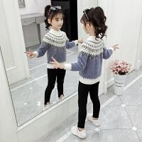 女童毛衣新款儿童秋冬装大童装打底衫套头