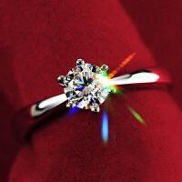 925银戒指女求婚结婚开口锆石戒子礼物