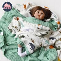 纱布盖毯四层新生儿包巾抱被 婴儿宝宝夏季空调被子竹纤维浴巾