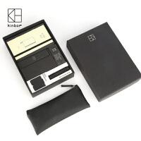 20180624071416101广博kinbor黑执事商务礼品套装A5/A6皮面本笔记本办公文具套装 套装