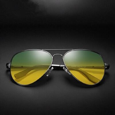 日夜两用太阳镜男士司机夜视镜 偏光墨镜驾驶蛤蟆镜开车专用眼镜 品质保证 售后无忧 支持货到付款
