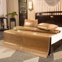伊迪梦家纺高品质竹席碳化双面席加厚两用反面藤夏凉席子可折叠1.2/1.5/1.8米单双人床AN805