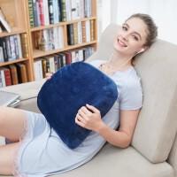乳胶汽车靠枕办公室靠垫腰垫车用座椅腰托腰枕护腰靠背枕 蓝色