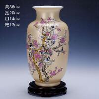 336景德镇瓷器客厅陶瓷花瓶现代时尚土豪金花瓶摆件 家居摆设装饰