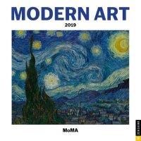 英文原版 MOMA纽约现代艺术博物馆 2019年挂历 新年日历 Modern Art 2019 Wall Calend