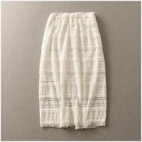 夏季新品蕾丝半身裙高腰显瘦包臀韩版女23711