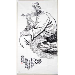 刘文西  黄土地的老人 137*69