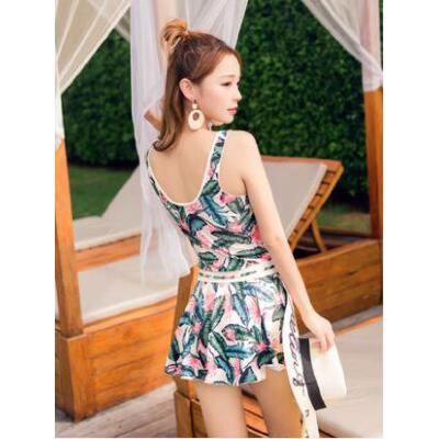新款游泳衣女保守学生韩国小清新连体裙式显瘦遮肚性感泡温泉 品质保证 售后无忧