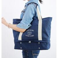 旅行包帆布男手提包大容量女士包袋多功能户外运动包行李箱拉杆包