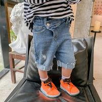男童牛仔短裤潮儿童五分裤夏装薄款中裤宝宝夏季裤子