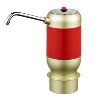 无线电动抽水器桶装水纯净水桶饮水机水龙头压水器自动上水 红色 充电款出水量加大 304不锈钢出水管