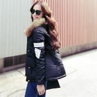 新款大毛领羽绒服女中长款韩版A字版斗篷型加厚保暖女装外套
