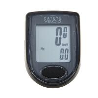 自行车码表5功能有线山地 中英文码表里程表骑行装备 黑色 英文版