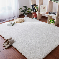 加厚小地毯客厅茶几垫羊毛地垫卧室床边满铺可爱儿童全铺定制尺寸 米白色 羊羔绒