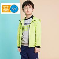 【冰点秒杀价:69】361度 男童装外套秋季新品儿童风衣大童学生长袖开衫衣服 N51833601