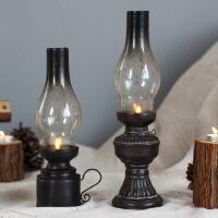 物有物语 工艺品 复古怀旧中式树脂蜡烛烛台摆件 创意酒吧家居客厅桌面玄关装饰品