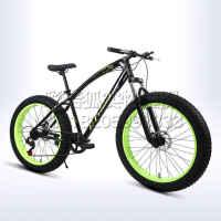 超宽轮胎自行车 山地车 雪地自行车 沙滩车 26寸铝合金双碟刹越野