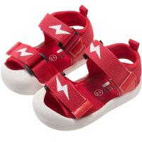 宝宝凉鞋0-1岁2男童防滑包头幼儿软底小童时尚婴儿夏季小孩学步女