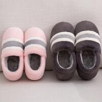 时尚全包跟棉拖鞋女冬季室内可爱家居毛拖鞋情侣防滑保暖加厚大码棉鞋