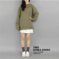 纯棉袜子女士袜子韩国官网学院风圆点波点多色休闲袜时尚袜子 白色 均码