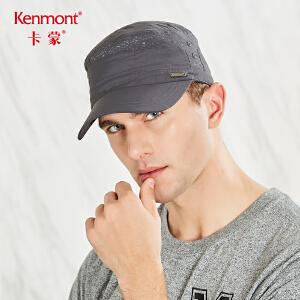 卡蒙反光鸭舌帽黑色帽子男百搭夏天速干防晒军帽薄防紫外线平顶帽 3518