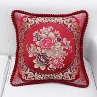 45cm 欧式抱枕套子沙发靠垫靠背不含芯正方形客厅小抱枕枕头T