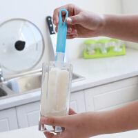 七夕礼物非一次性加长海绵杯刷清洗刷 洗杯刷清洗茶具杯子工具 多用杯刷清洁刷用品 随机颜色