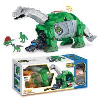 儿童仿真动物模型机械化腕龙收纳车恐龙模型男孩益智玩具礼物 机械化腕龙