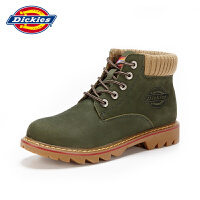 Dickies工装靴男真皮马丁靴秋冬季英伦风短靴子潮复古沙漠靴军靴143XG05AP05