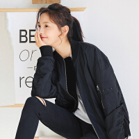 【秒杀价68.3元】唐狮春装新款外套女学生韩版潮流宽松绣花棒球外套夹克短上衣