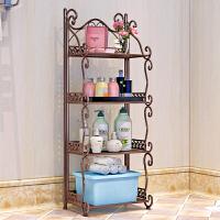 铁艺浴室置物架 落地卫生间脸盆架 洗手间厨房收纳储物层架 f3t