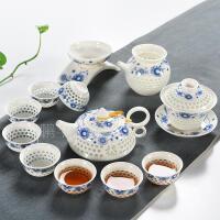 家用紫砂茶具套装青瓷整套陶瓷功夫茶具茶杯茶壶盖碗冰裂茶具