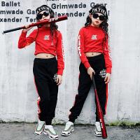 嘻哈服装少儿爵士舞舞蹈服跳舞练功服演出服潮装儿童街舞套装女童