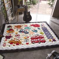 春秋棉质加厚家用地垫绗缝宝宝爬行垫可机洗儿童游戏垫防滑爬爬垫SN4125