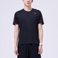 adidas阿迪达斯男子短袖T恤2018新款跑步训练健身运动服DM2810