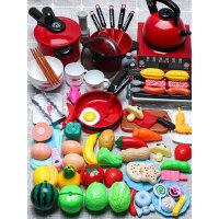 �和��^家家�N房玩具套�b女孩仿真�N具做�����煮�切水果2女童3�q