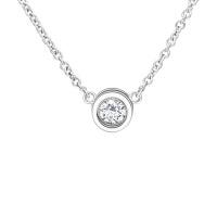 先恩尼 18k金约8分钻石吊坠/项坠 星语XDZ0050 含链 玫瑰金和白金两种