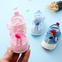 0-1岁宝宝凉鞋夏学步布鞋男女婴儿凉鞋软底防滑1-3岁布鞋