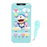 宝宝可咬防口水1玩具电话机触屏音乐手机仿真可充电婴幼儿童0-3岁 多啦A梦 (1480内容)iPhone X