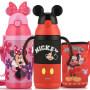 迪士尼儿童水杯防漏吸管杯幼儿水瓶婴儿学饮杯学生保温杯子带手柄
